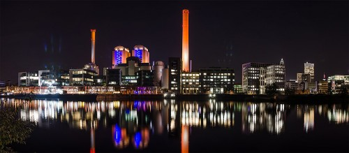 Kraftwerk am nördlichen Mainufer, Frankfurt am Main