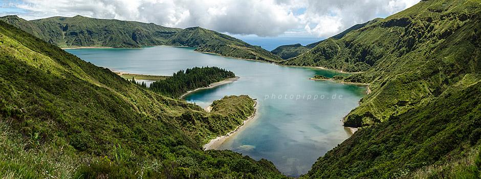 Kratersee Lagoa do Fogo auf São Miguel, Azoren