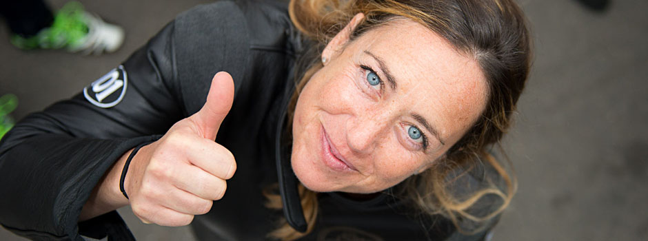 Kawasaki Testfahrerin Francesca Gasperi beim Glemsek 101 2015
