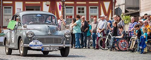 Oldtimer-Rallye Nibelungenfahrt 2014: Morris Minor 1000, Baujahr 1958