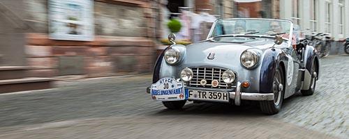 Oldtimer-Rallye Nibelungenfahrt 2014: Triumph TR3, Baujahr 1959