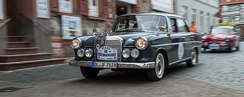 Oldtimer-Rallye Nibelungenfahrt 2014: Mercedes-Benz 220 Sb, Baujahr 1963