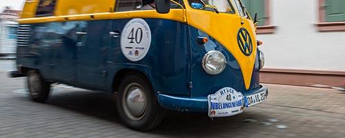 Oldtimer-Rallye Nibelungenfahrt 2014: Volkswagen Bus Typ 1, Baujahr 1962