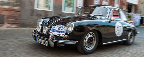 Oldtimer-Rallye Nibelungenfahrt 2014: Porsche 356 C mit Baujahr 1965