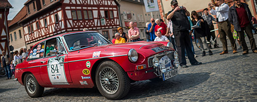 Oldtimer-Rallye Nibelungenfahrt 2014: MG C GT, Baujahr 1968