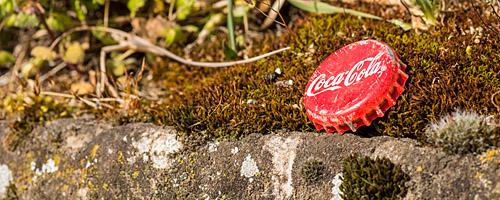 Alter Coke-Kronkorten, Makro mit Nikon D3200